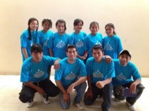 Los jóvenes peruanos equipo de la Misión 1